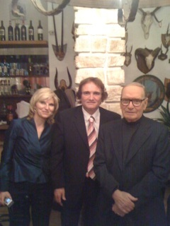 Italia - con Ennio Morricone y mi esposa Margareta